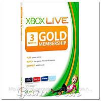 Карта подписки Xbox live Gold на 3 Месяца EUR+USA+RUS