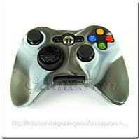 Силиконовый чехол для джойстика Xbox 360 (камуфляж)(Grey-brown)