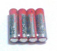 """Батарейки ААА """"Наша сила"""" 4шт. (міні-пальчик)"""