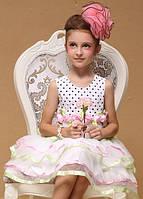 Летнее нарядное платье на 3-4 года на рост 90-105см