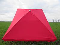 Зонт торговый  2х3 м с серебряным напылением прямоугольный красный, синий, зеленый