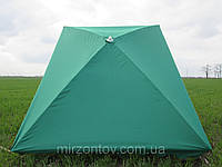 Зонт торговый  2х3 м с серебряным напылением прямоугольный  зеленый, синий, красный