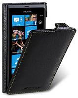Кожаный чехол Melkco для Nokia Lumia 800 черный