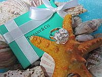 "Кольцо Tiffany & Co / Тиффани ""Белая роза"" (реплика, размер 17-й)"