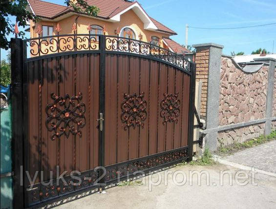 Цены на ворота из профнастила в харькове цена распашных ворот для дачи