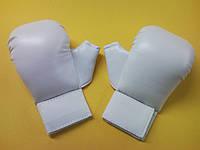 LEADER Накладки каратэ JKS с большим пальцем (белые,красные, синие)