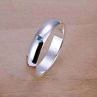 Кольцо Сваровски голубой 925 серебро проба