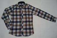Сорочка для мальчика в клетку (байковая)