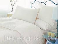 Комплект постельного белья Бязь Голд Premium hotel Евро размер.белое постельное белье