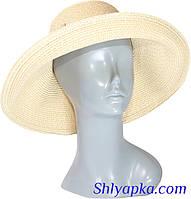 Шляпа мягкая с украшением в виде банта