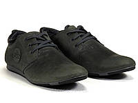 Спортивные туфли мужские серые натуральные кожаные шнурок GS-комфорт, фото 1