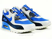 Кроссовки мужские синие  кожаные Nike Air Max 90 (копия), фото 1