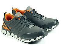 Мужские серые кроссовки спортивные, фото 1