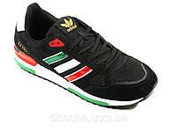Мужские кроссовки Adidas ZX750 сетка текстиль черные спортивные шнурок, фото 1