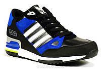 Зимние кроссовки мужские синие на меху Adidas ZX750, фото 1