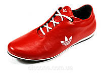 Мужские кроссовки красные натуральные кожаные шнурок Adidas, фото 1