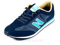 Синие кроссовки мужские текстиль отделка нубук спортивные New Balance 550, фото 1