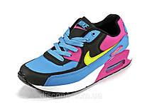 Кроссовки кожаные женские голубые/белые/черные/розовые Nike Air Max, фото 1