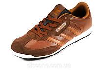 Kроссовки мужские коричневые кожаные спортивные Adidas, фото 1