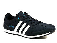 Мужские кроссовки спортивные синие нубук Adidas, фото 1