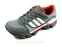 Мужские кроссовки летние Adidas сетка текстиль серые спортивные шнурок, фото 1