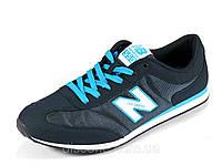 Кроссовки мужские синие текстиль отделка нубук спортивные New Balance 550, фото 1