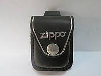 Чехол кожаный для зажигалкиZIPPOчёрный, матовый, с петлёй,с клипсой.