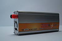 Инвертор напряжения для транспортного средства 2000w, преобразователь 24/220 2000w