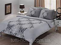 Набор постельного  белья TAC сатин семейный 70х70 AIDA V01 СЕРЫЙ