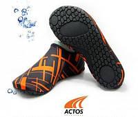 Обувь Actos Skin Shoes для спорта, йоги, плавания (NEO BLACK)