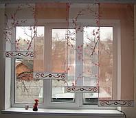 Комплект  штор тюль Сакура оранж