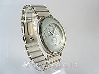 Женские часы RADO  браслет керамика, белые с серебром