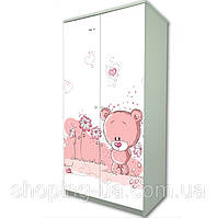 Детский шкаф Розовый Мишка BABY BOO