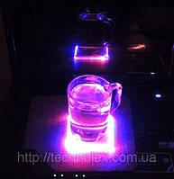 Flash Pad - светодиодная подставка под чашку (бокал) оригинальный подарок, фото 1