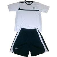 Футбольная форма для команд арт. Umbro бело-чорная