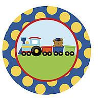 """Вафельная картинка """"Паровозик"""" A4 (код 1262)"""