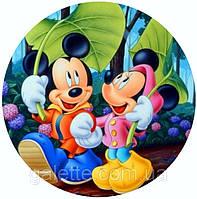 """Вафельная картинка """"Микки и Мини """"  A4 (код 1262)"""