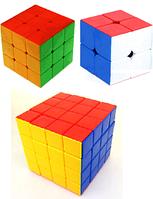 Три кубика Рубика цветные