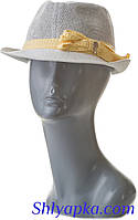 """Шляпа летняя женская """"трилби"""" белая"""
