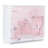 Детский комод Розовый Мишка BABY BOO