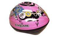 Велошлем детский RAD B2-018P (EPS, пластик, PVC, р-р S,M,L,XL регул, розовый)