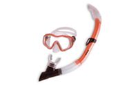 Набор для плавания детский: маска, трубка ZEL ZP-27243-SIL (термостекло,PVC,сил,пласт,жел,красн)