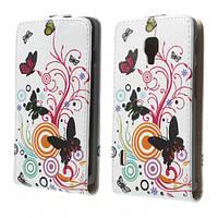 "Чехол книжка для  LG Optimus L7 P713 / P710 ""Butterfly Circles"""