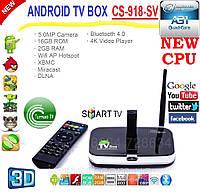 CS918-SV mod Android tv box 2014 4ядра 2гига DDR3 Bluetooth LAN AV-out пульт + НАСТРОЙКИ I-SMART