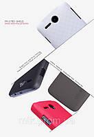 Чехол-бампер и плёнка NILLKIN для телефона Lenovo A680 коричневый