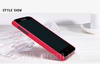 Чехол-бампер и плёнка NILLKIN для телефона Lenovo A680 красный