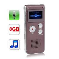 Цифровой диктофон 8GB, MP3 плеер., на аккумуляторе