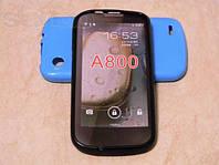 Силиконовый бампер на леново А800 + защитная пленка