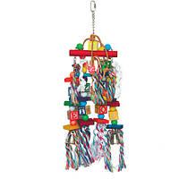 Деревянная игрушка для крупного попугая