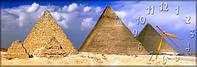 Настенные часы панорамные Пирамиды (30х90 см), часы для дома, часы картина